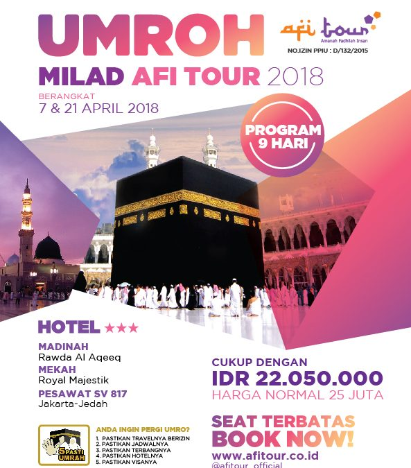 Pengumuman: Program Umroh Promo April