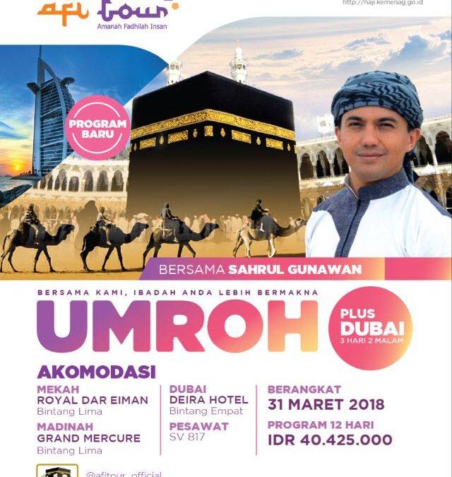 Umroh Plus Dubai 12 Hari Maret 2018