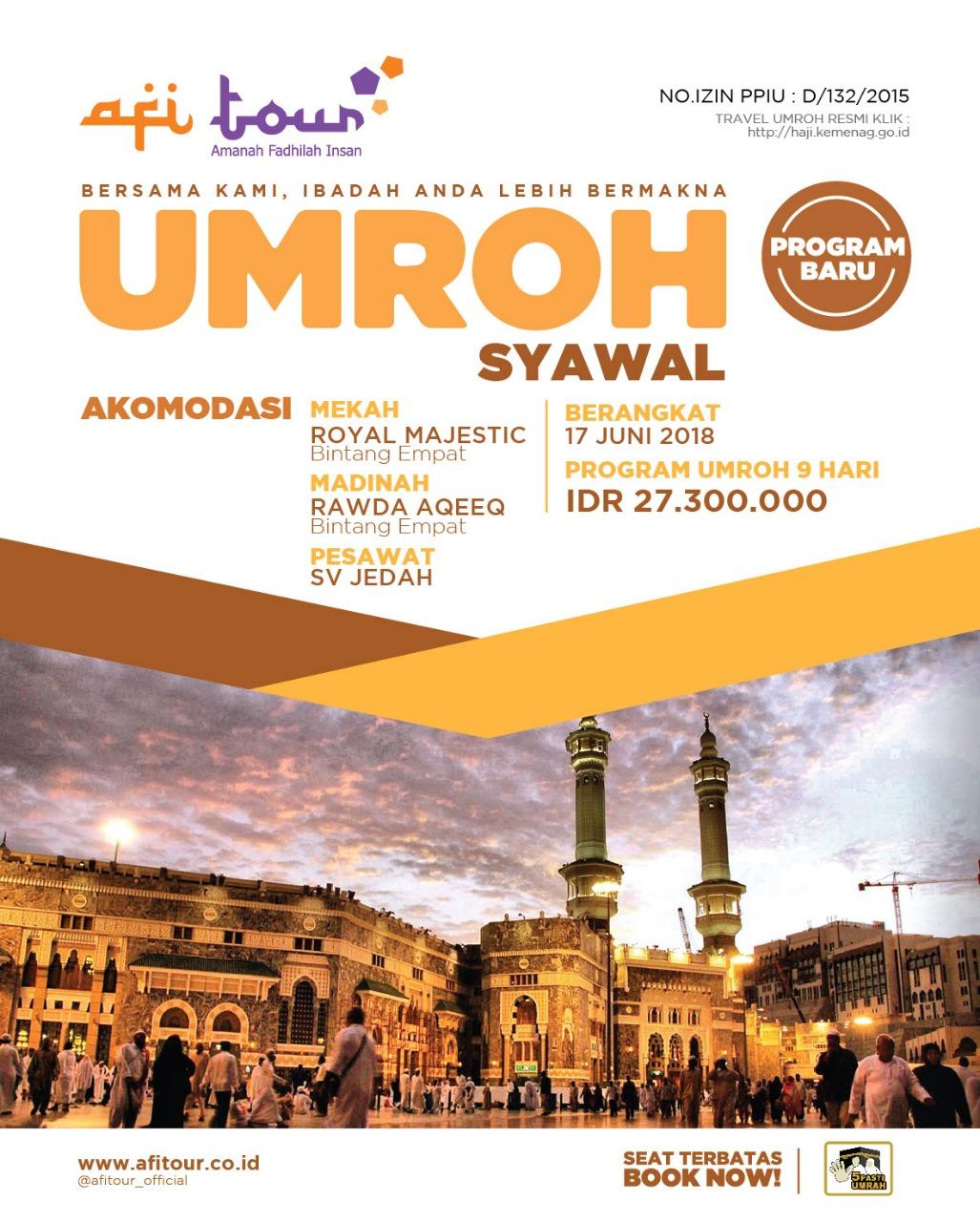 Umroh 1 Syawal 17 juni 2018