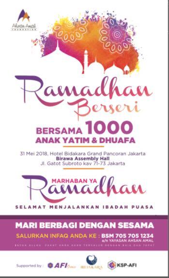 Ramadhan Berseri Bersama 1000 Anak Yatim