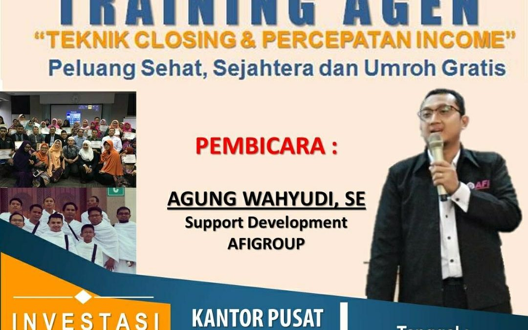 TRAINING AGENT 12 MEI 2018