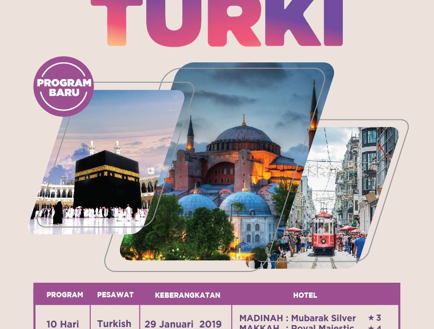UMROH PLUS CITY TOUR TURKI 29 JANUARI 2019