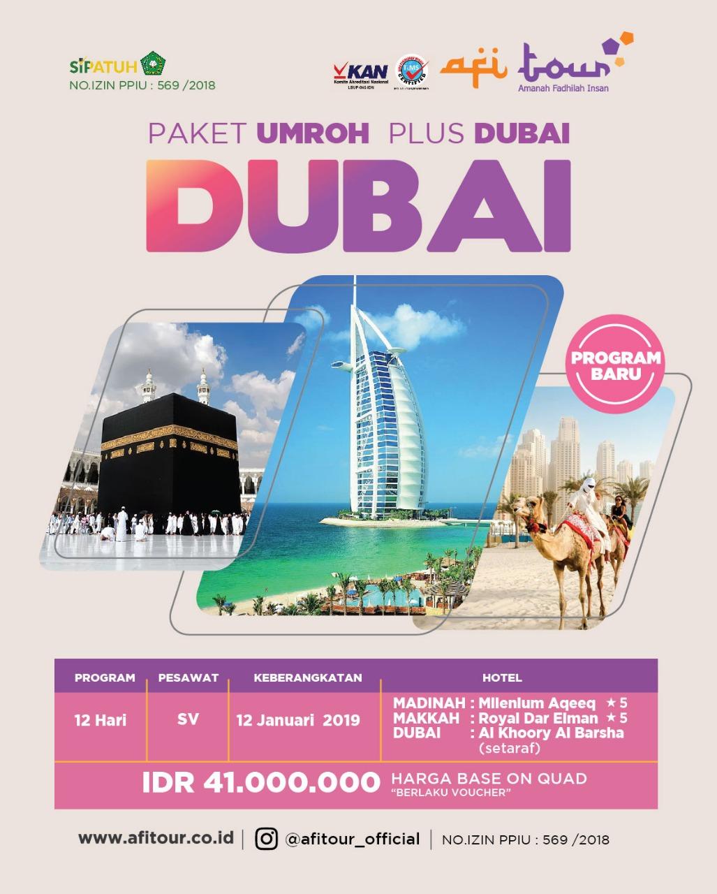UMROH PLUS DUBAI 12 JANUARI 2019