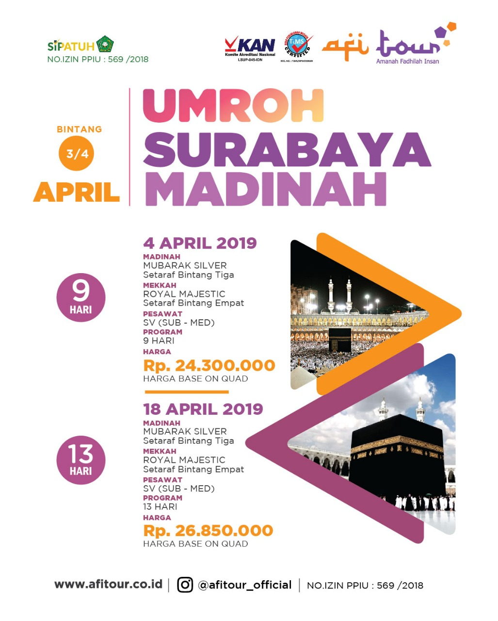 UMROH 4 APRIL 2019 SURABAYA – MADINAH