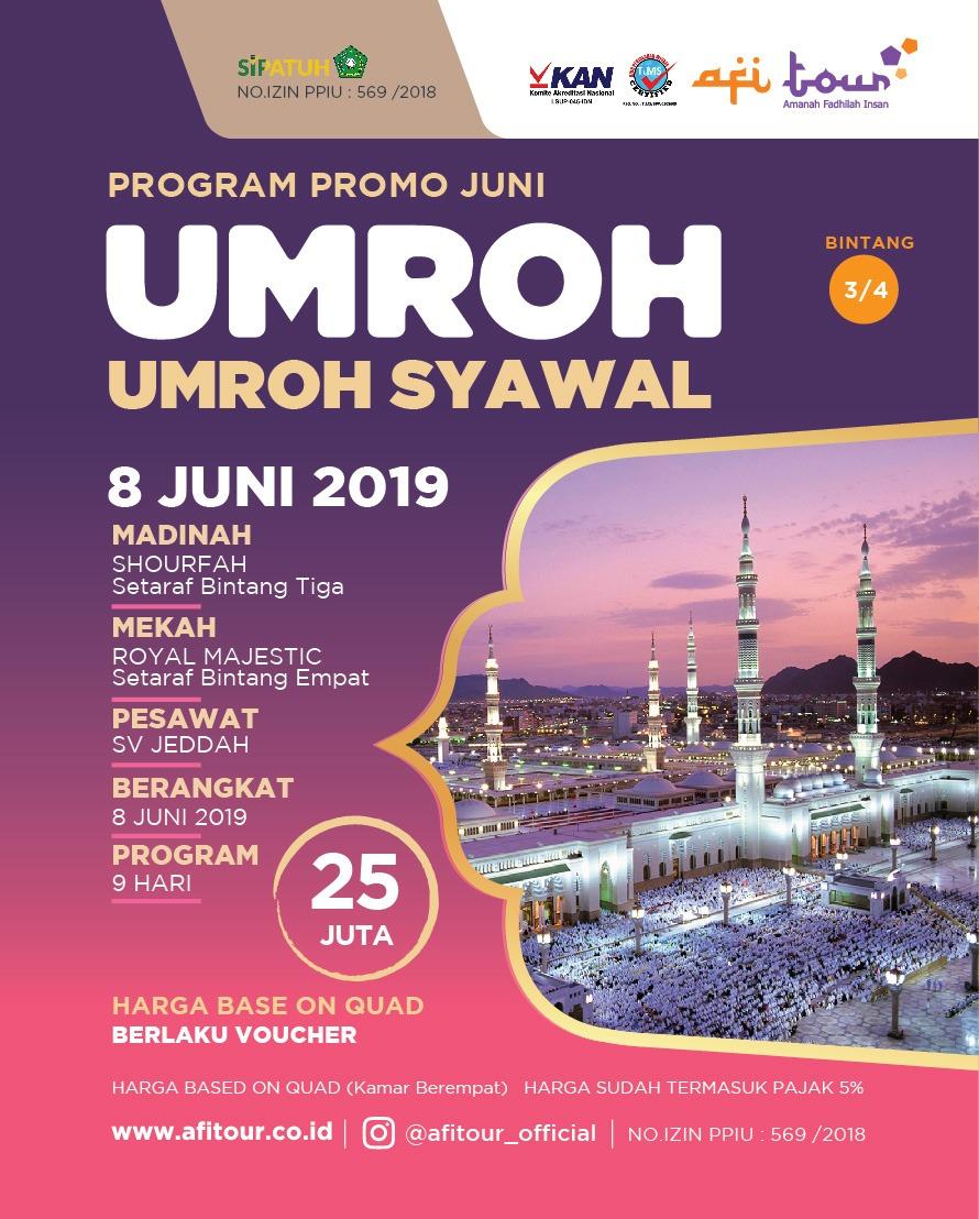 UMROH SYAWAL 8 JUNI 2019