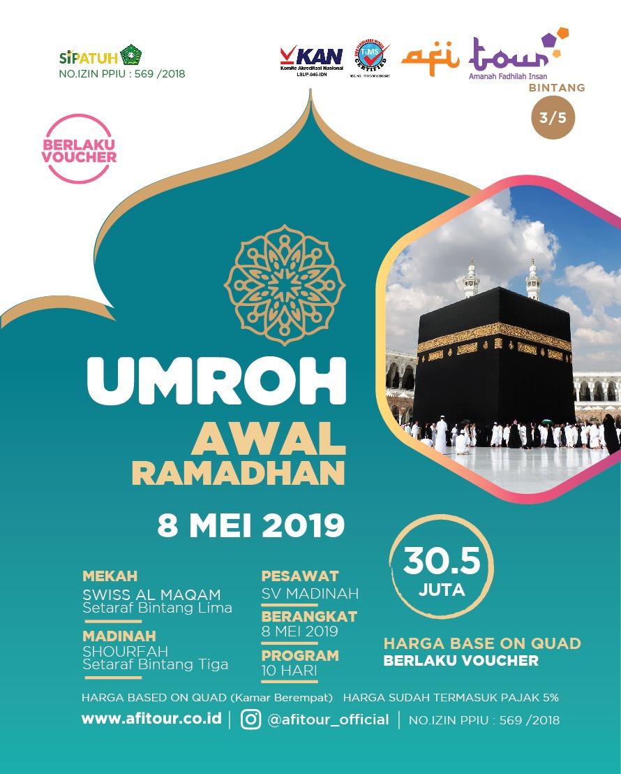 UMROH AWAL RAMADHAN 8 MEI 2019