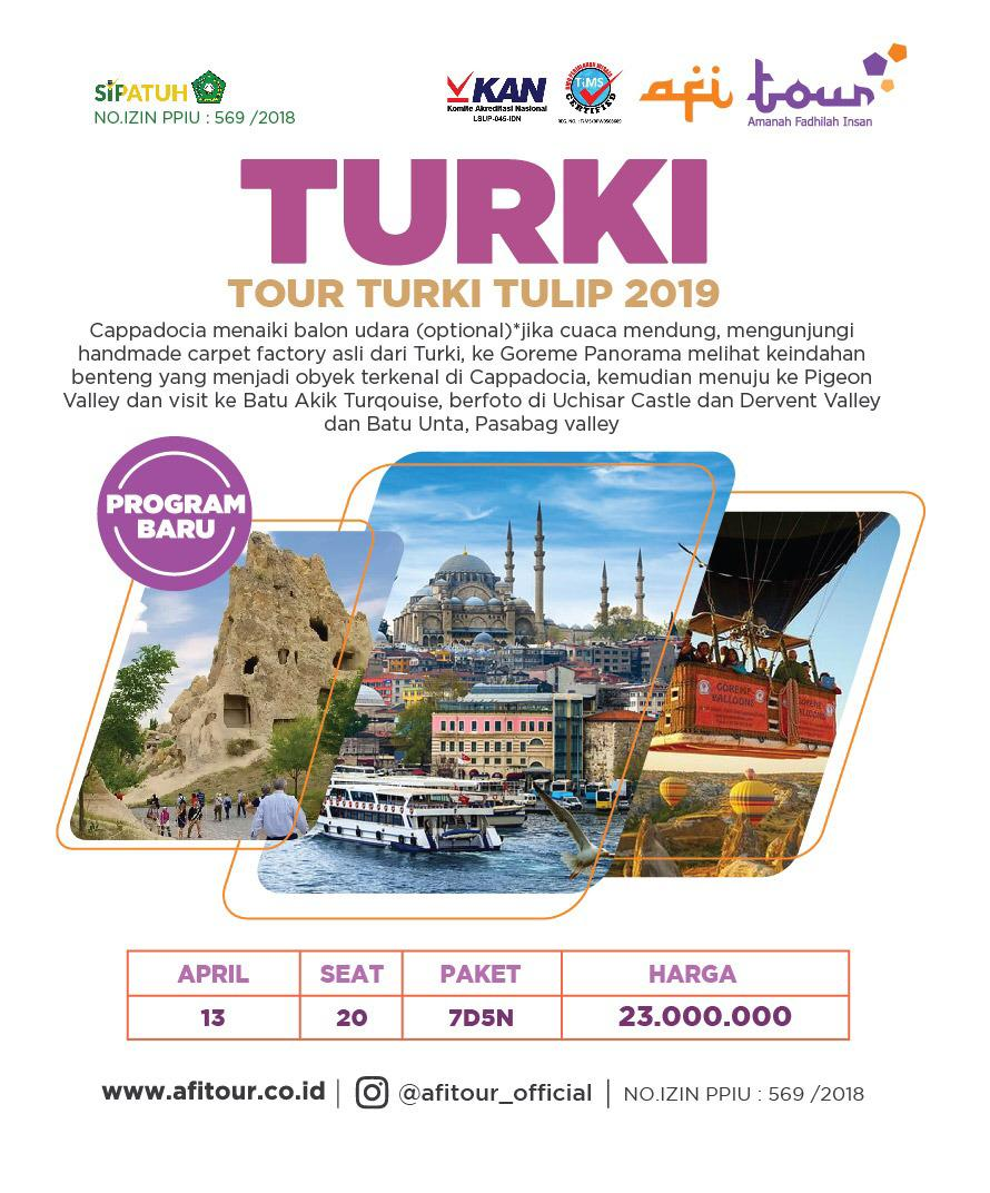 TOUR TURKI TULIP 13 APRIL 2019