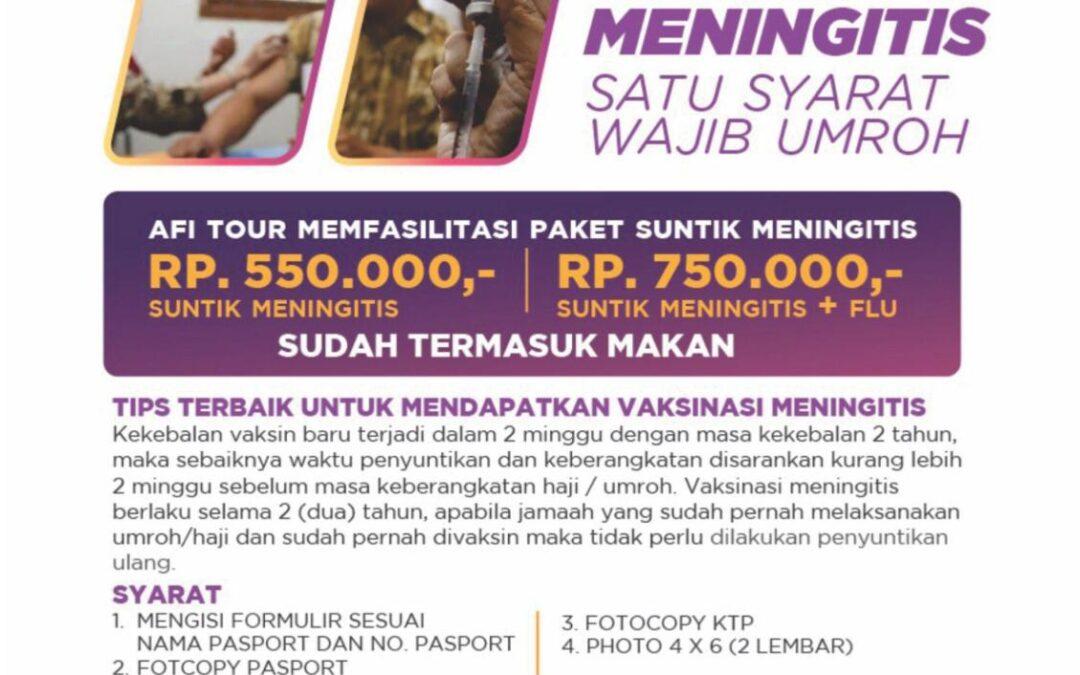 VAKSIN MENINGITIS AFI TOUR 29 DES '18