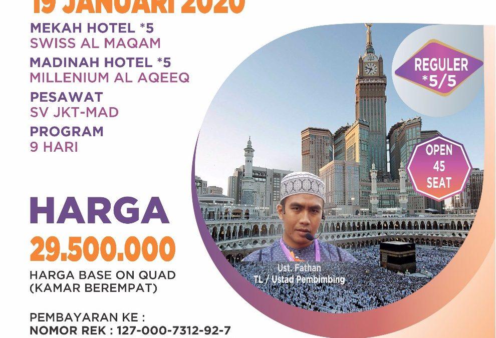 REGULER 19 JANUARI 2020 PROGRAM 9 HARI