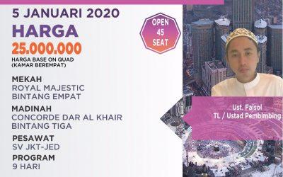 REGULER 05 JANUARI 2020 PROGRAM 9 HARI