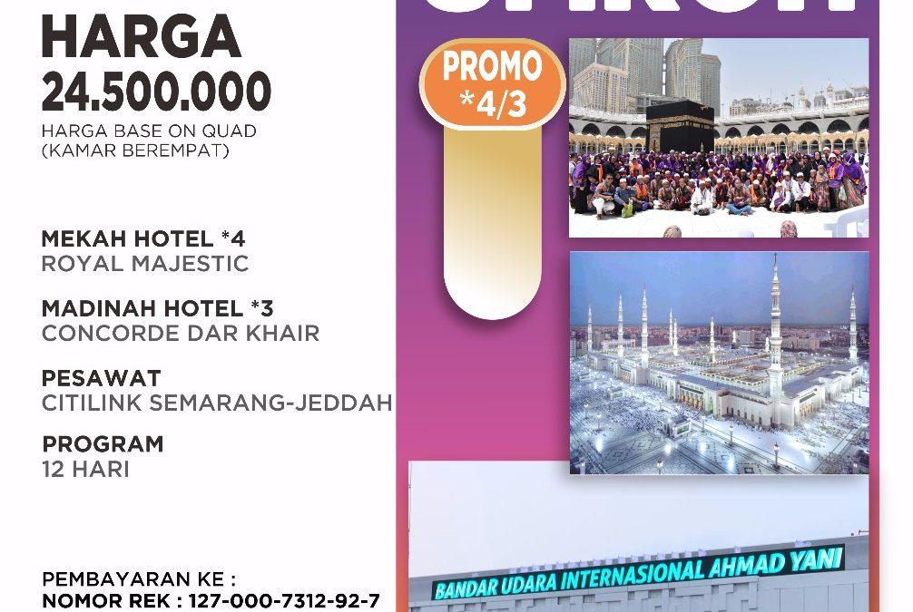 PROMO SEMARANG-JEDDAH 22 JANUARI 2020
