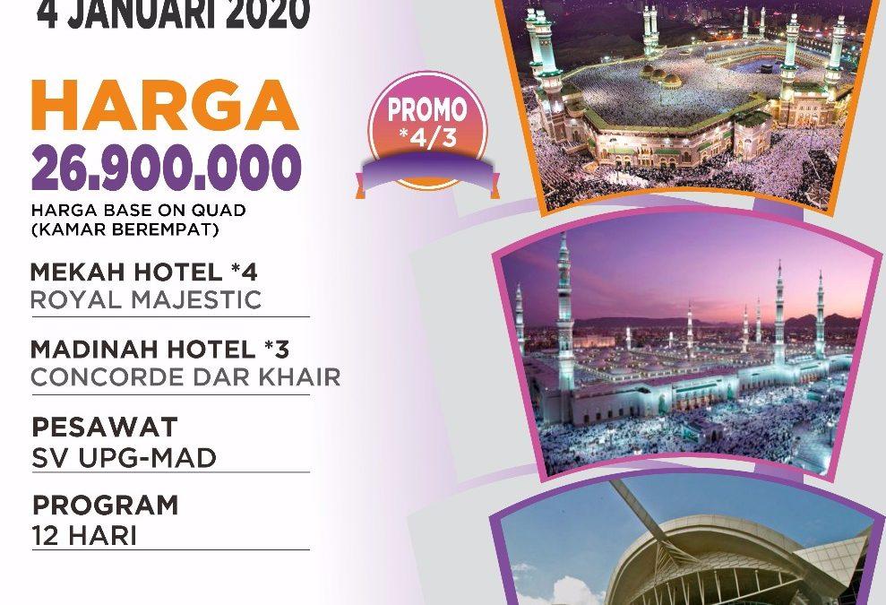 PROMO 4 JANUARI 2020 12 HARI MAKASAR – MADINAH