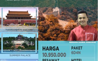 PAKET WISATA MUSLIM BEIJING-SHANGHAI 21 SEPTEMBER 2019