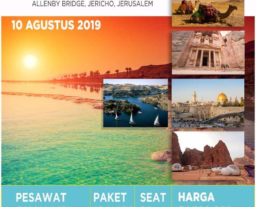 MESIR-AQSHO-JORDAN CITY TOUR 10 AGUSTUS 2019