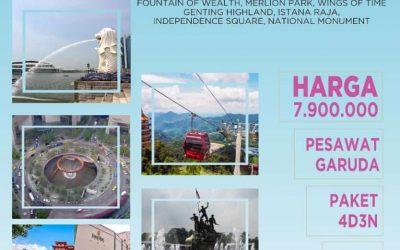 SINGAPURA-MALAYSIA CITY TOUR 29 JULI 2019